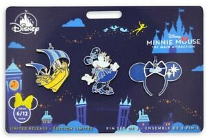 Disney-Store-Minnie-Mouse-The-Main-Attraction-Pin-Set-6-of-12-Peter-Pans-Flight