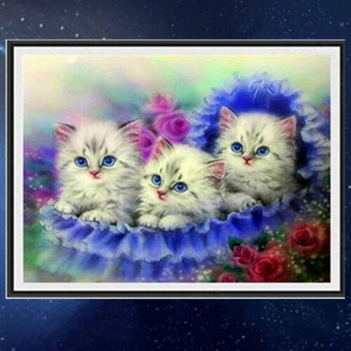 Cats DIY 5D Diamond Painting Embroidery Cross Stitch Mosaic Home Decor LH