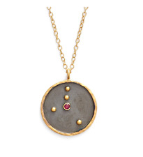 Satya Jewelry Reversible Constellation Gold Pendant Necklace Cancer 35239