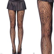 Women's Florentine Floral Lace Victorian Vine Diamond Net Pantyhose Stockings US