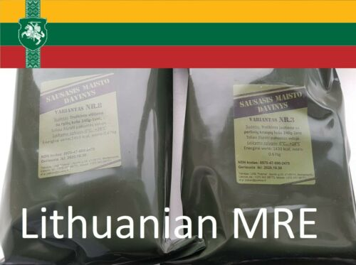 Lithuanian MRE 2 Packs Random Menu 2021 free shipping