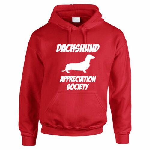 hoodies fun thème Men/'s sweat à capuche Boutons de manchette Teckel appréciation de la société-Chien saucisse
