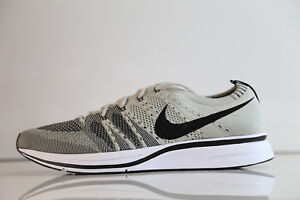 61f9346a15ad07 Nike Flyknit Trainer Pale Grey Black White AH8396-001 5-115 white ...