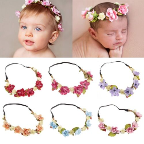 Flower Hairband Baby Kids Floral Crown Headband Wedding Girls Headwear