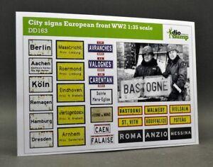 DioDump-DD163-City-signs-European-front-WW2-1-35-scale-diorama-accessories