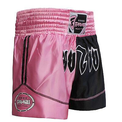 FARABI Pro Boxing Shorts for Boxing Training Punching Sparring Fitness Gym Kickboxing Equipment Trunks Black