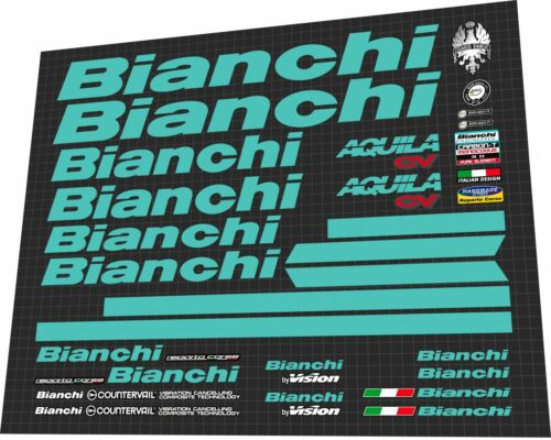 BIANCHI Aquila CV 2017 Frame Sticker Decal Set