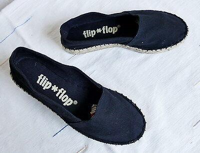 FLIP FLOP Damen Espadrilles Gr. 36,5 / 37 Pantoletten Mokassins Ballerinas Schuh