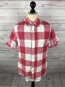 4722fe882b0 BODEN Short Sleeved Linen Shirt - Medium - Check - Great Condition ...