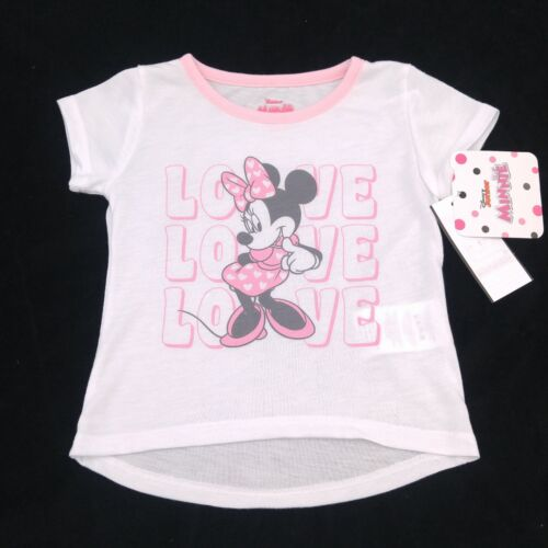White//Pink Minnie Mouse Love T-Shirt Kid Toddler SIZE CHOICE NWT