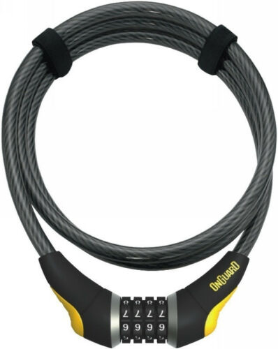 OnGuard 8041 Akita Cable Bike Resetable Combination Lock 6/' x 12mm thicker Combo