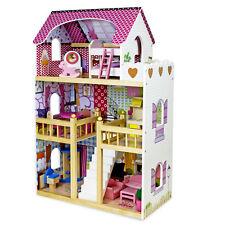 Puppenhaus Holz MDF 3 Etage Puppenstube Puppenmöbel Spielset mit Zubehör Set 019