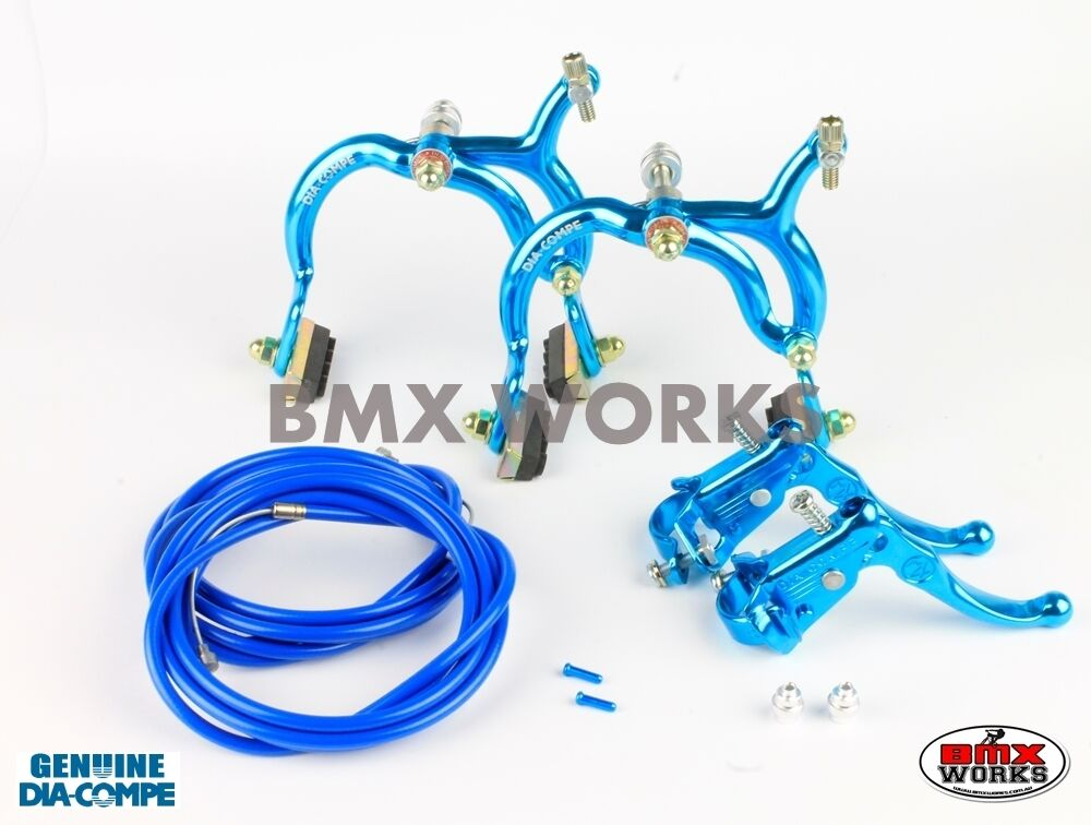 Dia-Compe Bright Blau MX890 with MX121 (Tech 3) Levers Package Old School BMX