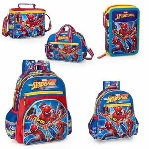 Boys' Accessories Marvel Spiderman Backpack Bags Detachable Pencil Case Travel Lunch Bag Rucksack