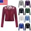 Womens-Bolero-Long-Sleeve-Shrug-Lace-Cropped-Open-Front-Cardigan-S-5XL-Fashion thumbnail 1