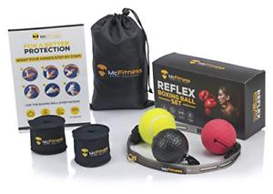 MMA Gear and McFitness Boxing Punch Ball Boxing Headgear Reflex Speed Ball