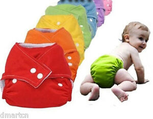 One-Size-Fits-All-adjustable-Cloth-Nappies-diaper-Nappy-Reusable-Modern-7-COLORS