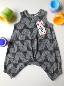 d880f40b1fd9 Image is loading CUTE-BABY-BOY-HARLEQUIN-ROMPER-PLAYSUIT-OUTFIT-CLOTHES-
