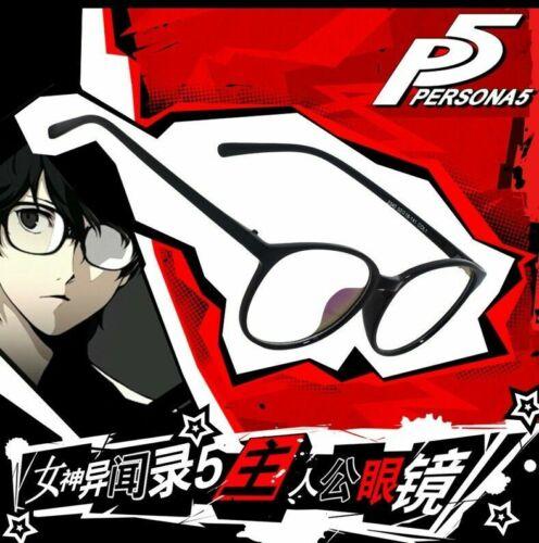 Persona 5 JOKER Full Frame Glasses Black Glasses Cosplay with Lenses P5 Joker