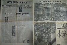 ***NUOVA STAMPA SERA*** 7-8/5/49 FUNERALI SUPERGA