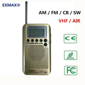 Details about EX-737 Portable AM/FM/SW/CB/VHF/NOAA/AIR World Band Radio  Airband Aviation Radio