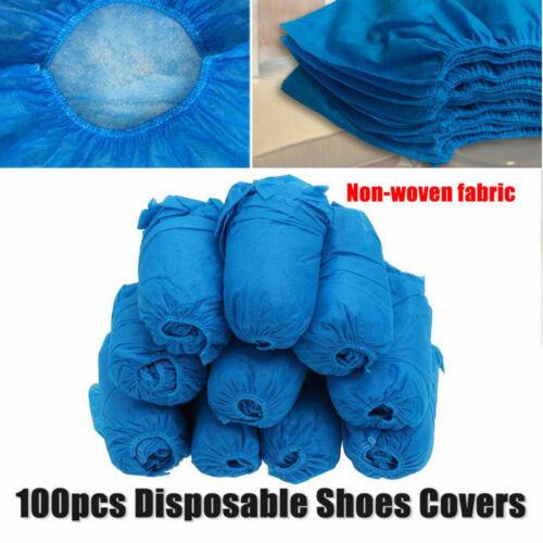 50 Paire Étanche Anti Slip Jetable Couvre-chaussure Overshoes du tissu non tissé