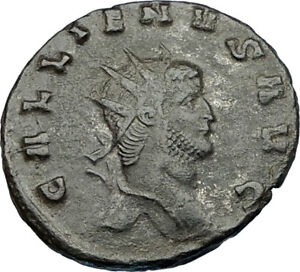 GALLIENUS-son-of-Valerian-I-253AD-Authentic-Ancient-Roman-Coin-Antelope-i65630
