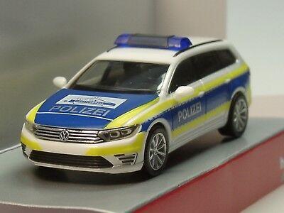 Herpa Auto VW Passat Varant GTE Polizia Amburgo 093910