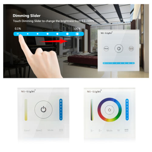 Mi Light Touch Panel Wall Controller DC12V 24V For 5050 RGB RGBW LED strip Lamp