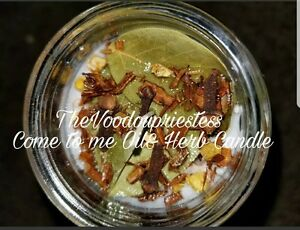 Details about Authentic Come to Me Oil & Herb Candle Voodou Wicca Pagan  Witches Voudou