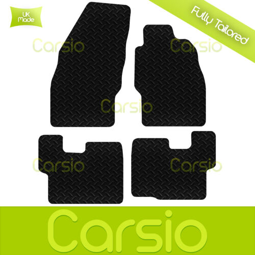 Onwards Black Fully Tailored Rubber Car Floor Mats For Vauxhall Corsa D 2007