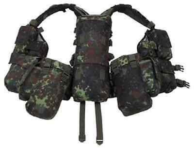 BW Tactical Combat Weste Army Outdoor Gotcha Paintball Vest Flecktarn 12 Taschen