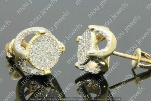 Details about  /Mens And Women/'s VVS1 1.50Ct Round Diamond Stud Earrings 14K Yellow Gold Finish