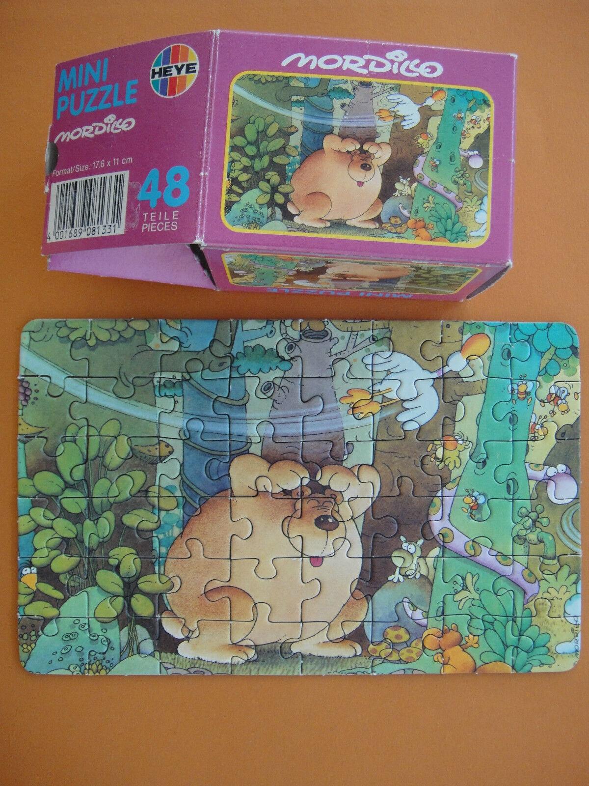 HEYE Puzzle   Jigsaw   Mini   48 Teile   Mordillo   Wald Bär