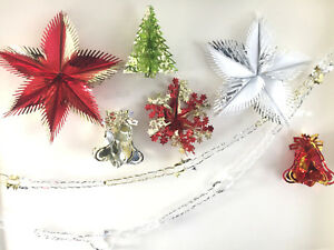 CHRISTMAS TINSEL HANDING DECORATIONS