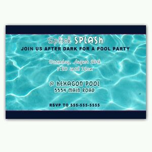 Image Is Loading 30 Invitations Pool Party Adult Kids Birthday Personalized