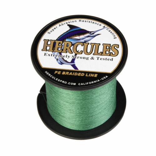 Hercules 328Yds 6-300lb Test PE Weave Braided Fishing Line 4 Strands Tackle 300M