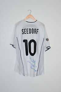 🔥2001/02 SEEDORF match worn shirt Inter vintage retro jersey signed Holland