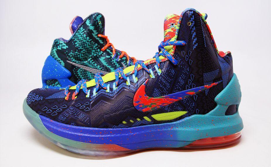 Nike Zoom KD V Premium SZ 10.5 What The WTKD Kevin Durant Galaxy Nerf 598601-400