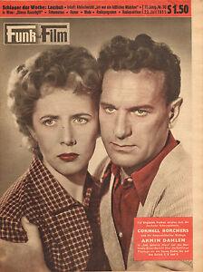 FUNK-UND-FILM-1955-nr-30-CORNELL-BORCHERS-amp-ARMIN-DAHLEN-HEDY-FASSLER