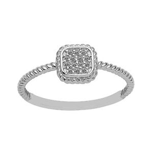 Cubic-Zirconia-Stone-Solitaire-Twisted-Rope-Stacking-Band-Women-Ring-925-Silver