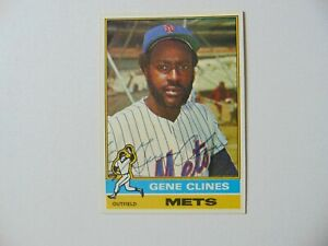 New York Mets Gene Clines Hand Signed Baseball Card