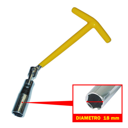 CHIAVE // ATTREZZO SMONTA CANDELA Spark Plug Wrench DIAMETRO 18 MM SNODATA