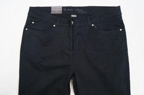 ADAGIO FRANCA Jeans Hose Slim Leg  Gr.42 Regular  schwarz NEU