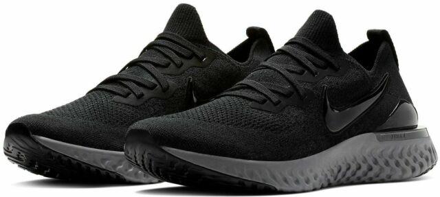 sports shoes 78a6e 795b1 Nike Epic React Flyknit 2 Running Shoes Black Gunsmoke Gray BQ8928-001  Men's NEW