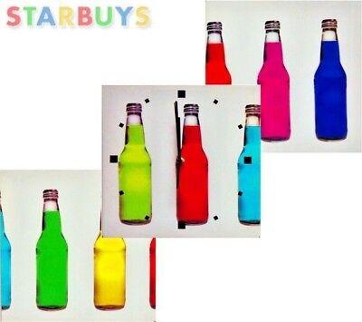 3 X Stampe Su Tela Foto Arte Design Bottiglie Di Vino Bar Cucina + Orologio Di Lavoro- Per Vincere Una Grande Ammirazione