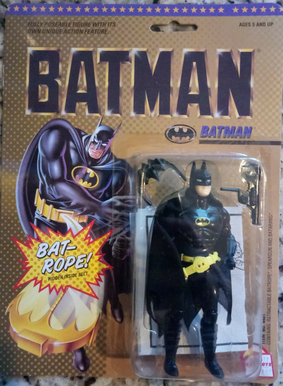 Dc comics superhelden batman (rundes gesicht) actionfigur spielzeug - biz 1989 (glas)