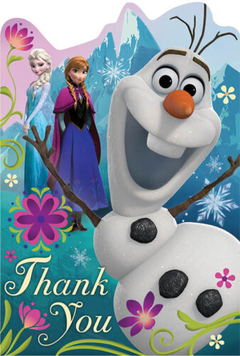 8 Disney/'s Frozen THANK YOU NOTES AND SEALS Birthday Party Supplies