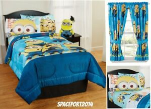 Image Is Loading 8pc DESPICABLE ME Minions Twin Single COMFORTER SHEETS