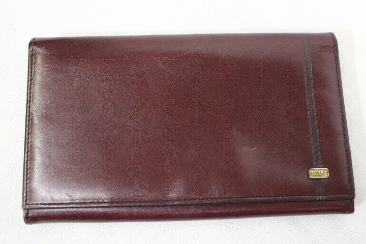 M-MANO Red Leather Bifold Long Wallet/Clutch-B64